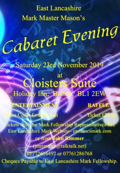 Cabaret Evening @ Cloisters Suite, Holiday Inn