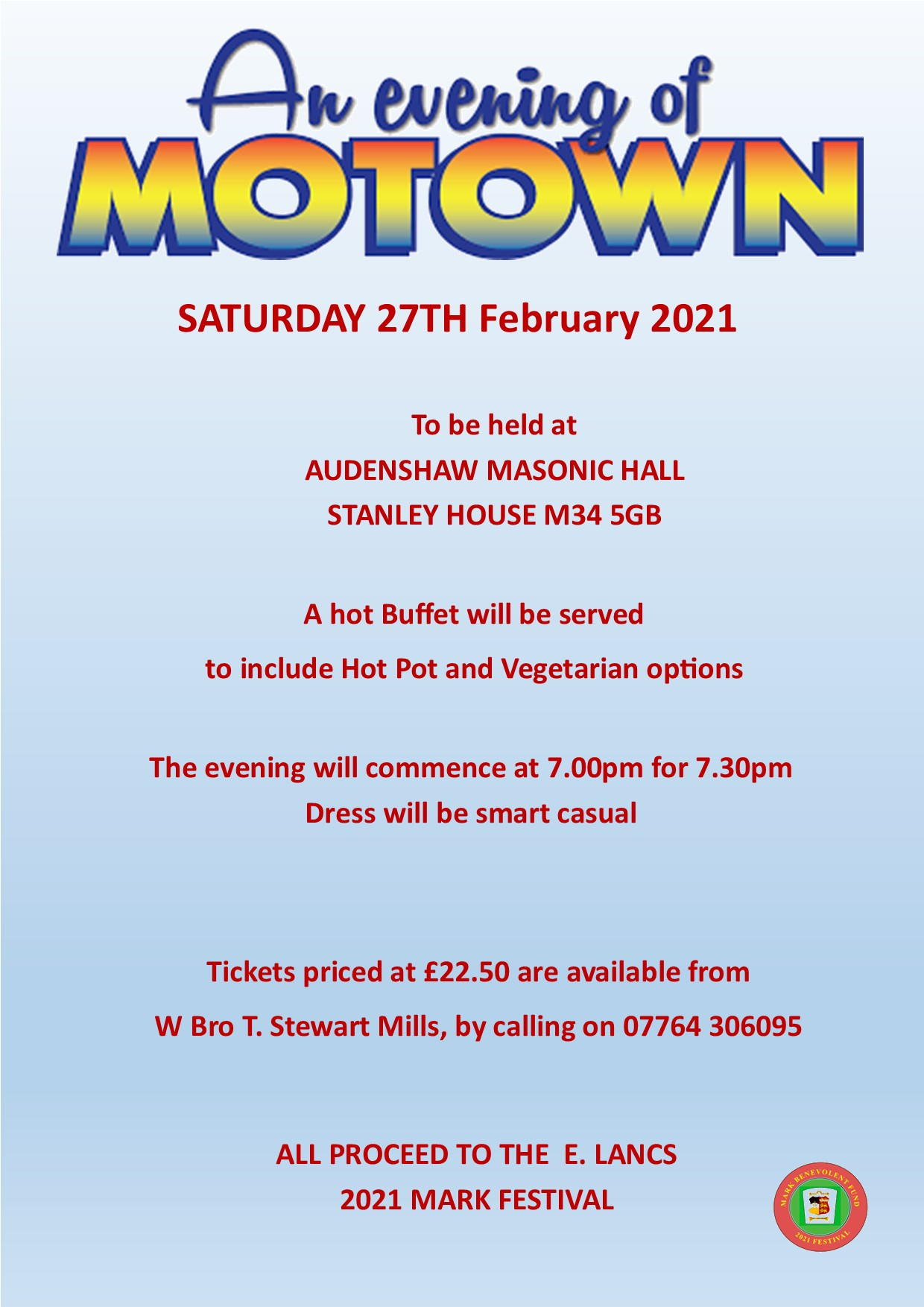 An Evening of Motown @ Audenshaw Masonic Hall